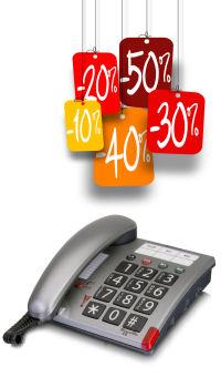 Téléphones amplifiés en promotion pour malentendant et senior.