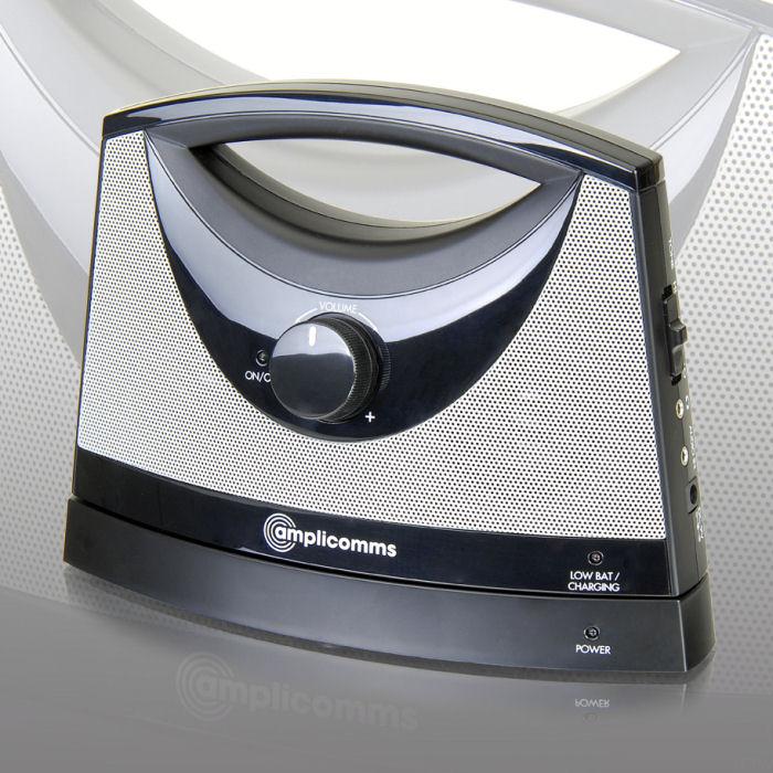 haut parleur sans fil mobile amplicomms soundbox tv. Black Bedroom Furniture Sets. Home Design Ideas
