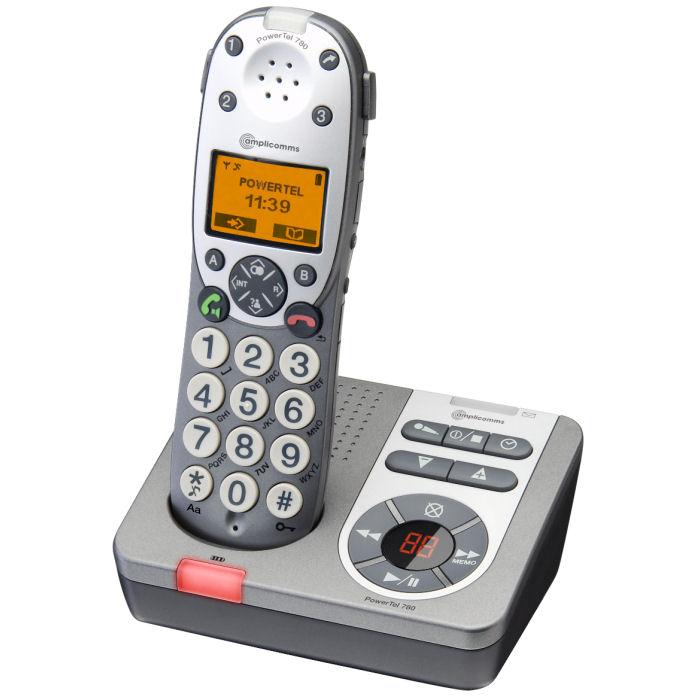 le t l phone sans fil r pondeur amplicomms powertel 780. Black Bedroom Furniture Sets. Home Design Ideas